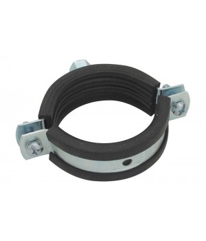 """BESTFIX Хомут сантехнический с резинкой и гайкой PCNT 1"""" (pipe clamp with hex nut and rubber (32-35))"""